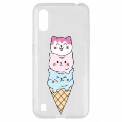Чехол для Samsung A01/M01 Ice cream kittens