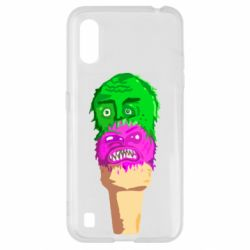 Чехол для Samsung A01/M01 Ice cream with face