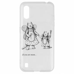 Чехол для Samsung A01/M01 If you are mom text