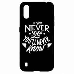 Чохол для Samsung A01/M01 If you never go you'll never know