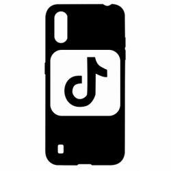 Чехол для Samsung A01/M01 Иконка тик ток