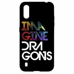 Чехол для Samsung A01/M01 Imagine Dragons and space
