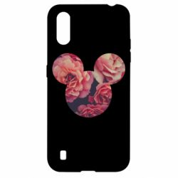 Чохол для Samsung A01/M01 Inner world flowers mickey mouse