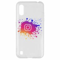 Чехол для Samsung A01/M01 Instagram spray