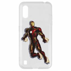 Чехол для Samsung A01/M01 Iron man with the shadow of the lines