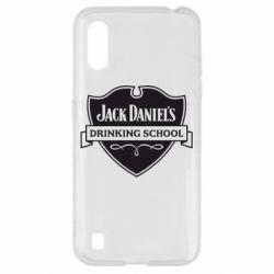 Чехол для Samsung A01/M01 Jack Daniel's Drinkin School
