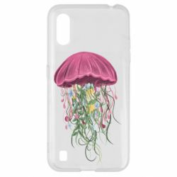 Чехол для Samsung A01/M01 Jellyfish and flowers