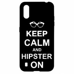 Чехол для Samsung A01/M01 Keep calm an hipster on