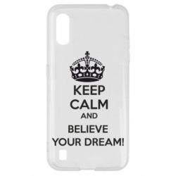 Чохол для Samsung A01/M01 KEEP CALM and BELIVE YOUR DREAM