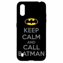 Чехол для Samsung A01/M01 KEEP CALM and CALL BATMAN