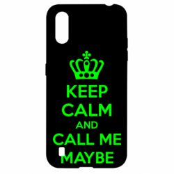 Чехол для Samsung A01/M01 KEEP CALM and CALL ME MAYBE