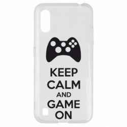 Чехол для Samsung A01/M01 KEEP CALM and GAME ON