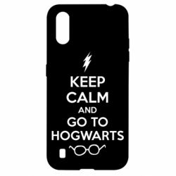 Чехол для Samsung A01/M01 KEEP CALM and GO TO HOGWARTS