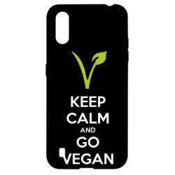 Чехол для Samsung A01/M01 Keep calm and go vegan