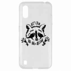 Чохол для Samsung A01/M01 Keep calm and hug a raccoon