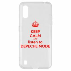 Чехол для Samsung A01/M01 KEEP CALM and LISTEN to DEPECHE MODE