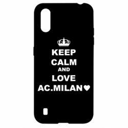 Чохол для Samsung A01/M01 Keep calm and love AC Milan