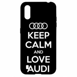 Чехол для Samsung A01/M01 Keep Calm and Love Audi