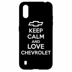 Чохол для Samsung A01/M01 KEEP CALM AND LOVE CHEVROLET