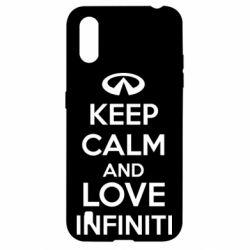 Чехол для Samsung A01/M01 KEEP CALM and LOVE INFINITI
