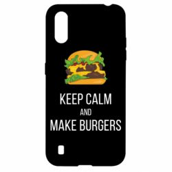 Чехол для Samsung A01/M01 Keep calm and make burger