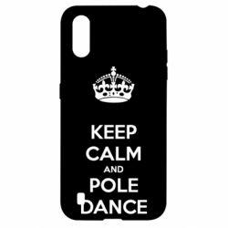 Чехол для Samsung A01/M01 KEEP CALM and pole dance