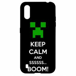 Чехол для Samsung A01/M01 Keep calm and ssssssss...BOOM!