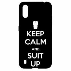Чехол для Samsung A01/M01 Keep Calm and suit up!