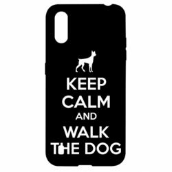 Чохол для Samsung A01/M01 KEEP CALM and WALK THE DOG