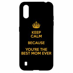Чехол для Samsung A01/M01 KEEP CALM because you're the best mom ever