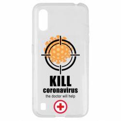 Чехол для Samsung A01/M01 Kill coronavirus the doctor will help