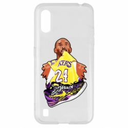 Чехол для Samsung A01/M01 Kobe Bryant and sneakers