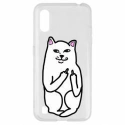 Чехол для Samsung A01/M01 Кот с факом