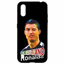 Чохол для Samsung A01/M01 Крістіано Роналдо, полігональний портрет