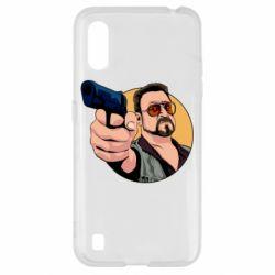 Чохол для Samsung A01/M01 Лебовськи з пістолетом