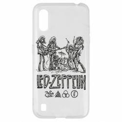 Чехол для Samsung A01/M01 Led-Zeppelin Art