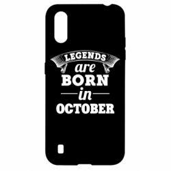 Чехол для Samsung A01/M01 Legends are born in October