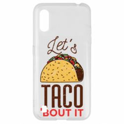 Чехол для Samsung A01/M01 Let's taco bout it