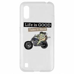 Чохол для Samsung A01/M01 Life is good, take it show