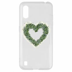 Чехол для Samsung A01/M01 Lilies of the valley in the shape of a heart