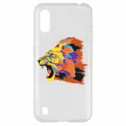 Чехол для Samsung A01/M01 Lion multicolor