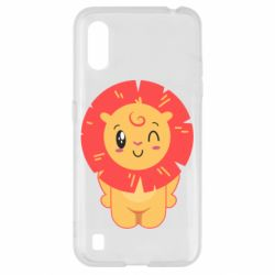 Чехол для Samsung A01/M01 Lion with orange mane