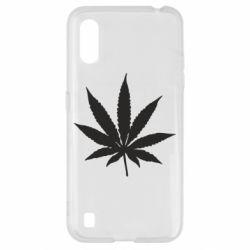 Чохол для Samsung A01/M01 Листочок марихуани