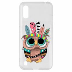 Чохол для Samsung A01/M01 Little owl with feathers