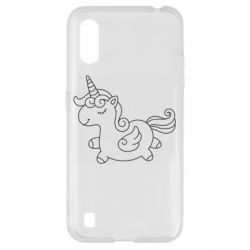 Чехол для Samsung A01/M01 Little unicorn with wings