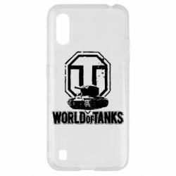 Чехол для Samsung A01/M01 Логотип World Of Tanks