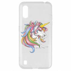 Чохол для Samsung A01/M01 Кінь з кольоровою гривою