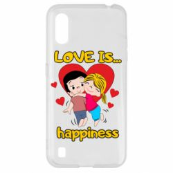 Чохол для Samsung A01/M01 love is...happyness