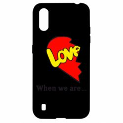 Чехол для Samsung A01/M01 Love Is...When we are