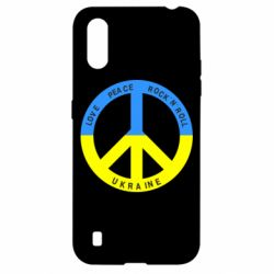 Чехол для Samsung A01/M01 Love,peace, rock'n'roll, Ukraine